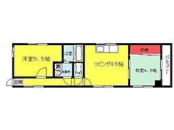 大阪府堺市堺区西湊町5丁の賃貸マンションの間取り
