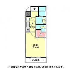 愛知県一宮市新生3丁目の賃貸マンションの間取り