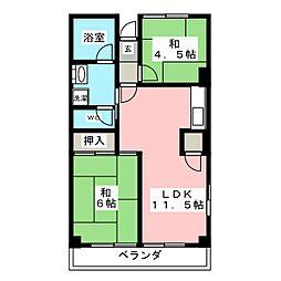 メゾン本山[4階]の間取り