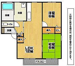 エヴァーグリーン紫の池 A棟[1階]の間取り