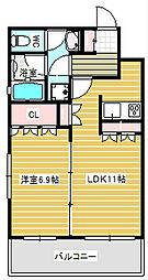 リーガル京町堀[6階]の間取り