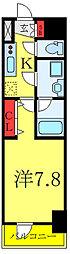 都営三田線 板橋本町駅 徒歩4分の賃貸マンション 9階1Kの間取り