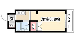 愛知県名古屋市瑞穂区桜見町2丁目の賃貸マンションの間取り