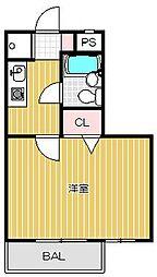 ダイアパレス目黒本町[4階]の間取り