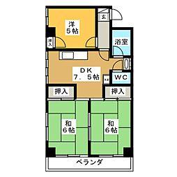 沼田ハイツ[4階]の間取り