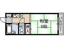 シャロームB棟[1階]の間取り