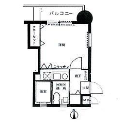 エステート・モア城南II[8階]の間取り