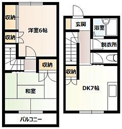[テラスハウス] 神奈川県厚木市山際 の賃貸【/】の間取り