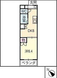 ユニオンハイツ日比野[4階]の間取り