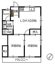 桝井ビル[2階]の間取り