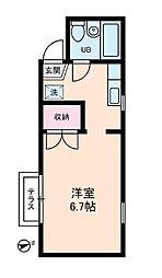 東京都武蔵野市境南町3丁目の賃貸アパートの間取り