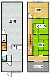 養父丘店舗付住宅[1階]の間取り