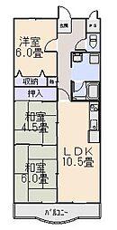 R-COURT YAMASHIRO(アールコート ヤマシロ)[2階]の間取り
