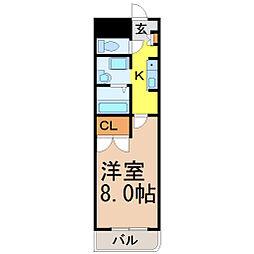 愛知県名古屋市瑞穂区彌富通2丁目の賃貸マンションの間取り