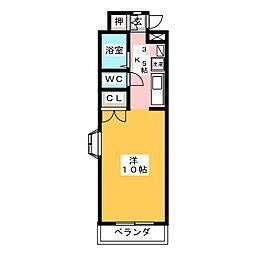 ハイツ アプリコット[1階]の間取り