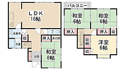 [一戸建] 兵庫県川西市新田2丁目 の賃貸【/】の間取り