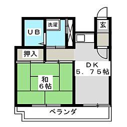 ライオンズマンション本町第2[6階]の間取り