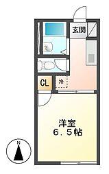 サンハイツ前田 B棟[2階]の間取り