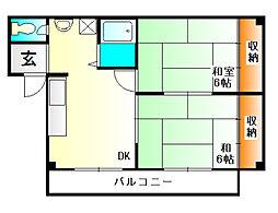 谷田有馬マンション[1階]の間取り