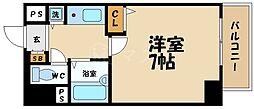 リーガル都島[7階]の間取り