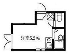 東京都文京区大塚5丁目の賃貸アパートの間取り
