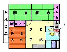 リゾートハイム永田[2階]の間取り