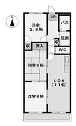 ピアレス高畑 (ピアレスタカバタ)[2階]の間取り