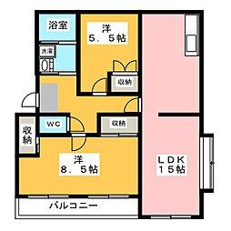 マンション コスモス[2階]の間取り