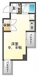 東明マンション江坂[4階]の間取り