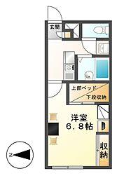 レオパレスグランビューII[2階]の間取り