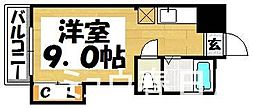 福岡県大野城市瓦田2丁目の賃貸アパートの間取り