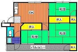 津久野台ファミリーマンション[307号室]の間取り