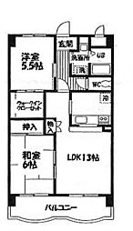 神奈川県横浜市瀬谷区阿久和西2丁目の賃貸マンションの間取り