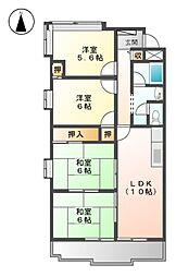 メゾン アモール[4階]の間取り