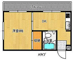 コーポ和秀[3階]の間取り