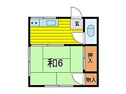 吉野荘 B[2階]の間取り