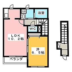 サニーテラス[2階]の間取り