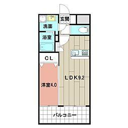 LE GRAND BLEU HAKATA 4階1LDKの間取り