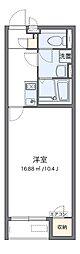 南海高師浜線 高師浜駅 徒歩5分の賃貸アパート 1階1Kの間取り