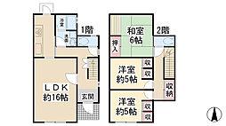 [テラスハウス] 兵庫県川西市萩原台東1丁目 の賃貸【/】の間取り