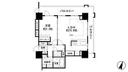 ライオンズタワー神戸元町[10階]の間取り
