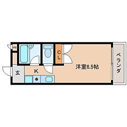 奈良県奈良市北川端町の賃貸マンションの間取り