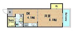MEGA DOME WEST[7階]の間取り