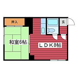 コーポ藤[1階]の間取り