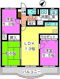ルミエール'98[2階]の間取り