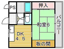 森山マンション[3階]の間取り