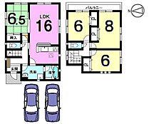 全居室6帖以上、並列で駐車2台可能です。モデルルームもございますのでお気軽にお問合せ下さい。
