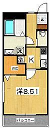 ジ・アパートメント下堀[101号室号室]の間取り