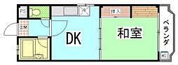 エクセレント竜安寺[301号室]の間取り