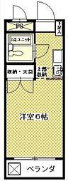 メゾンドール多摩[2階]の間取り